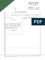 Kok v Pasadena Appellants Opening Brief