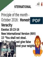 Honesty and Veracity