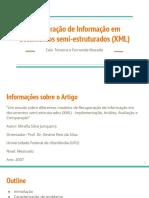Apresentação - Recuperação de Informação