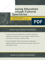 Viewing Education Through Cultural Spectacles