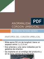 Anormalidades Del Cordón Umbilical