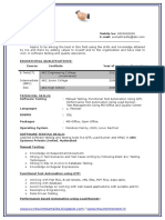 B Tech Resume Fresher No Experience Free Download