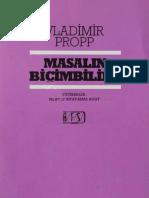 Vladimir Propp-Masalın Biçimbilimi