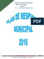 Plan Municipal Ante Desastres 2016.