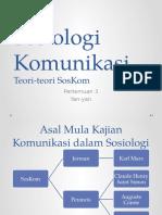 Sosiologi Komunikasi - Teori-teori Sosiologi Komunikasi