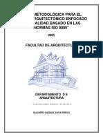 Guia Metodologica Para El Diseno Arquitectonico Enfocado a La Calidad Basado en Las Normas Iso9000