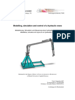 Modelling, simulation and control of a hydraulic crane