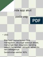 tanda app akut Usg