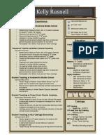kelly rusnells resume 2016