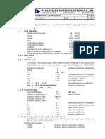 Design Criteria - Warehouse