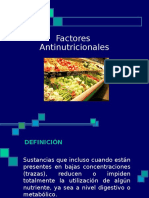 Factores Antinutricionales
