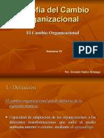 Ejemplo Cambio Organizacional