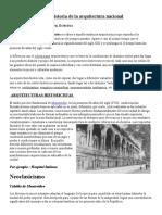 Breve Historia de La Arquitectura Nacional