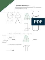 Prueba de Matemáticas Figuras y Cuerpos Geometricos