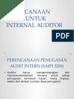 Perencanaan Audit Untuk Internal Auditor