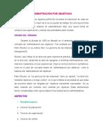 Administración Por Objetivos Lizzi 01-05-2014