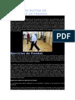 Parkinson Rutina de Ejercicios de Frenkel