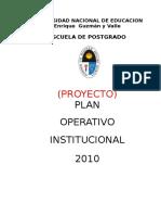Proyecto Plan Operativo Institucional de La Epg 2010