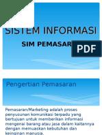 Sistem Informasi - Pemasaran
