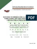 2006 Estudio Numerico de La Respuesta Vibratoria de Ejes Fisurados en Chumaceras Presurizadas