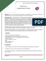 practica n° 1 ELABORACION DE YOGURT