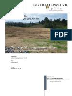 Quarry Management Plan