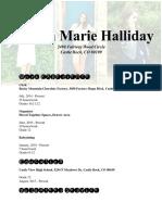 kirstyn marie halliday resume