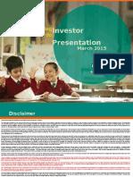 IDBI Investor Presentation March 2015