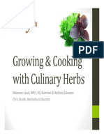 Growing and Cooking With Culinary Herbs