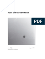 Philipse Notes on Brownian Motion