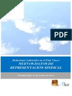 Relaciones Laborales en el Pais Vasco. NUEVOS DATOS DE REPRESENTACION SINDICAL