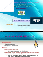SUJETOS CREATIVOS