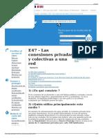 E47 - Las Conexiones Privadas y Colectivas a Una Red - Wikiw
