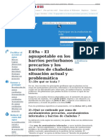 E49a – El Aguapotable en Los Barrios Periurbanos Precarios y