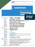 E49c – El Agua Potable en Los Barrios Periurbanos Precarios