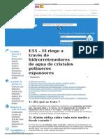 E55 – El Riego a Través de Hidrorretenedores de Agua de Cris