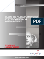 Sound Advice - CIE Guide to PA Installs