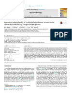 [1] Improving Voltage Profile of Residential Distribution Systems Using Rooftop PVs and Battery Energy Storage Systems