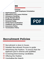 Personnel Policies