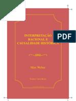 Weber Max Interpretacao e Causalidade Historica
