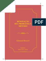 Husserl Edmund Renovacao Seu Problema e Metodo