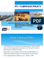 Cabotage Policy Malaysia