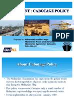 Cabotage Policy Malaysia