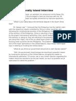 Spratly Island Interview