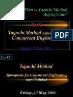 Why Taguchi Method Tip 3
