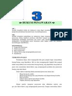Modul 3 Hukum Penawaran