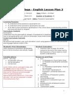 tranby college english lesson plan 2