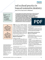 Good Occlusal Practice in Advanced Restorative Dentistry