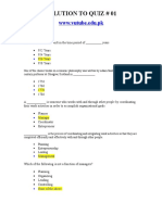 Princilpes of Management - MGT503 Spring 2006 Quiz 01 Solution