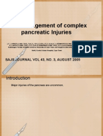 Trauma Pancreas Management
